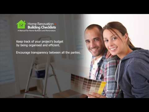 Home Renovation & Building Checklist