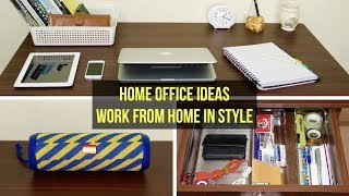 How to Work-From-Home in Style ? HomeOffice Setup Ideas | Minimalist HomeOffice Organization | 6W1H