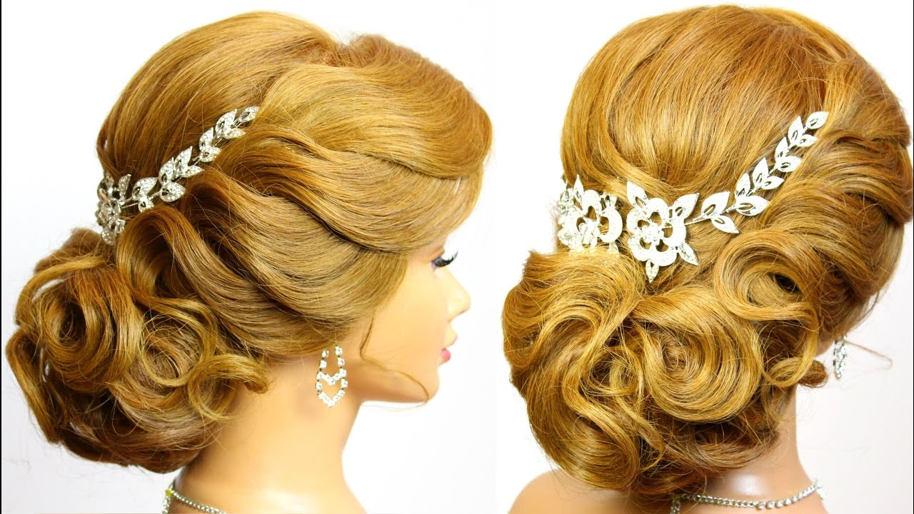 hairstyle for long medium hair tutorial. bridal updo.