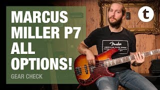 Playing all the Marcus Miller P7 Bass models |Demo |Thomann