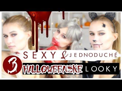 3 sexy HALLOWEEN looky z jedného make-upu│Lucy
