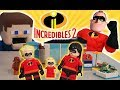 LEGO Incredibles 2 Movie Set Stop Motion Adventure Toys Mr Incredible Unboxing Trailer Puppet Steve