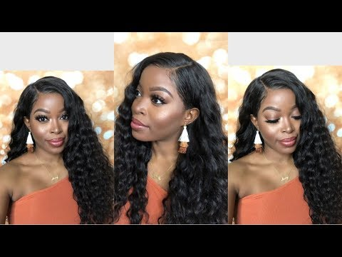 VERY NATURAL & Affordable Lace Frontal Wig: Deep Wave ft. Alipearl - 동영상