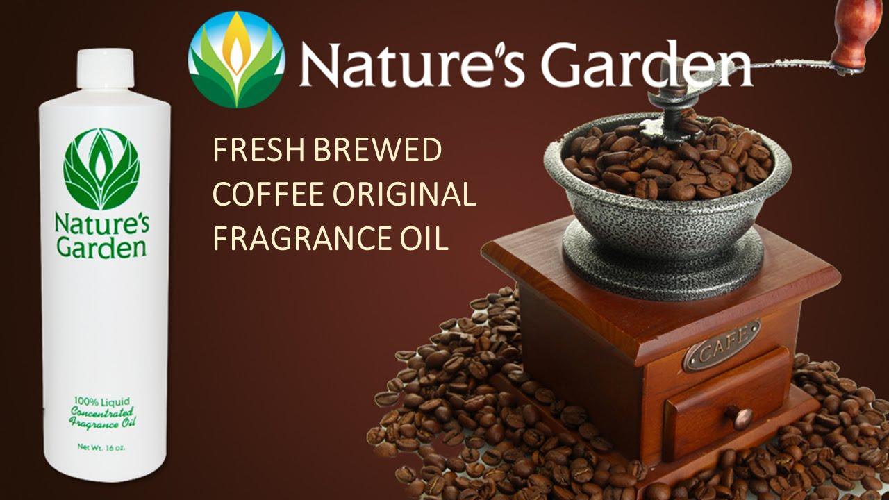 Fresh Brewed Coffee ORIGINAL Fragrance Oil- Natures Garden ...