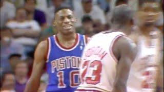 Dennis Rodman Defense on Michael Jordan - 1989 ECF Game 3