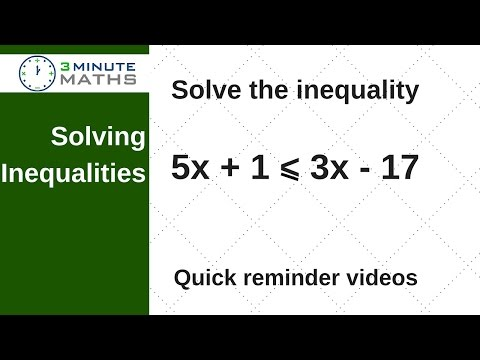 Solving inequalities - GCSE maths level 5 question