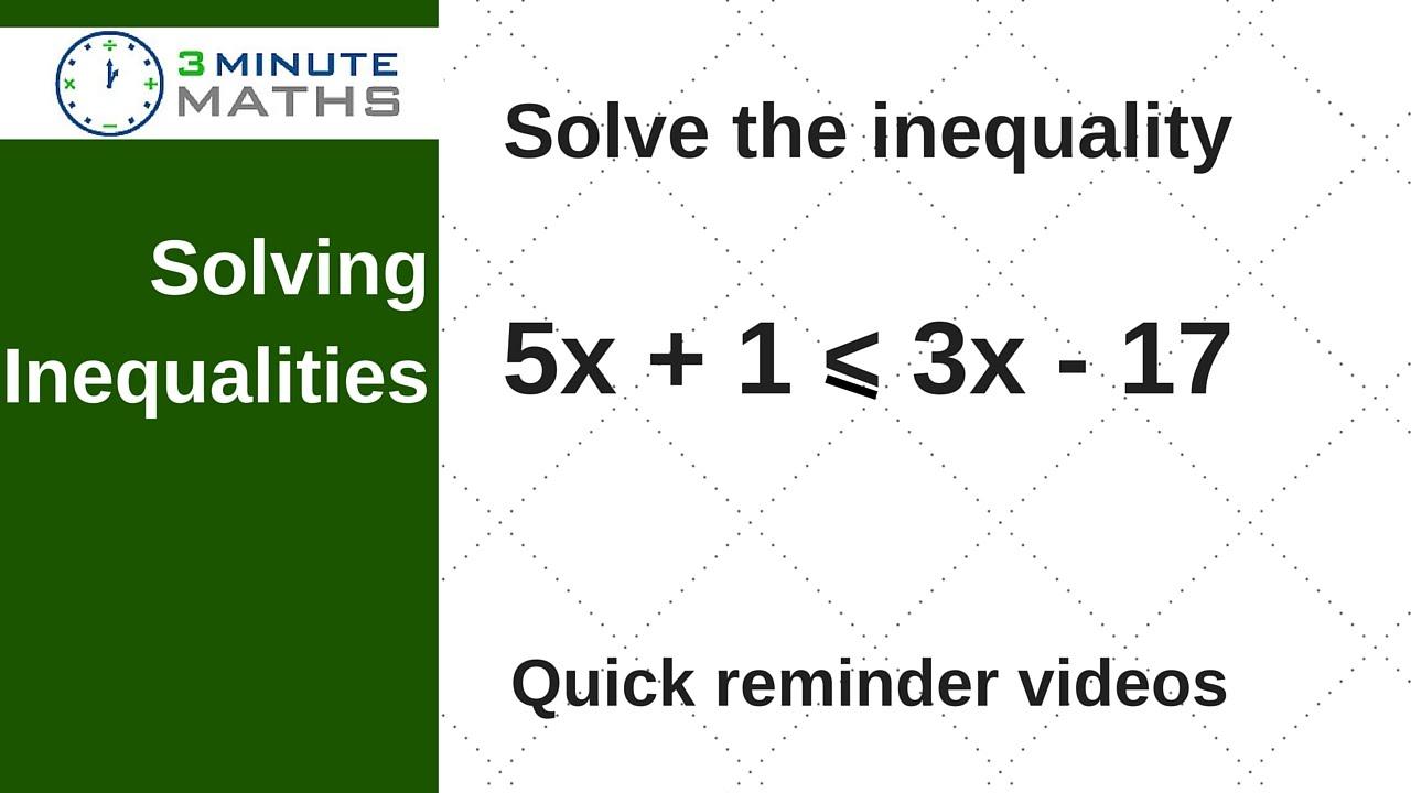 How to solve inequalities 69