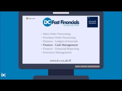 Financial Management Cash Management demo for Fast Financials Dynamics NAV ERP