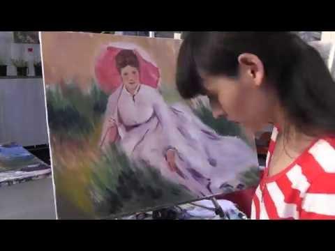Художник Фания Сахарова, импрессионизм, копия картины Ренуара