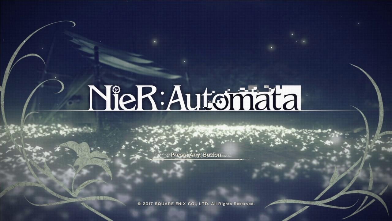 Nier Automata All Title Screens Youtube