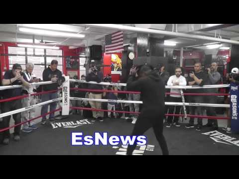 Andre Berto Last Workout Before Shawn Porter Fight - EsNews Boxing