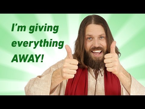 I'm giving everything away! Jesus makes a BIG channel announcement!