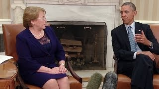 President Obama Meets with President Bachelet of Chile