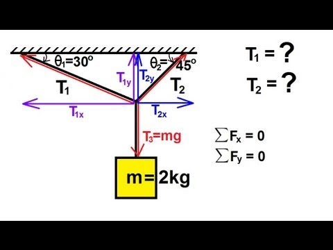 Physics - Mechanics: Newton's Laws of Motion (19 of 20) Statics: Example 2