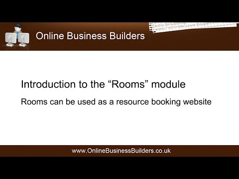 Introduction tour of Drupal 7 Rooms module (Resource booking website)