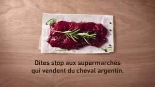 Dites stop aux supermarchés qui vendent du cheval argentin (version Football)