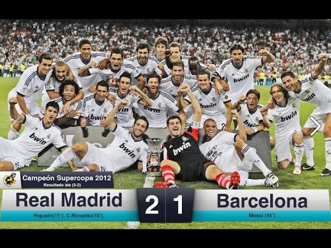 real madrid vs barcelona 2 1 spanish super cup 2012 all goals highlights hd