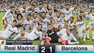 Real Madrid vs Barcelona 2-1   Spanish Super Cup 2012   All Goals & Highlights HD