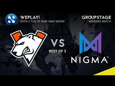 Virtus.Pro Vs Nigma Game 1 (Bo3) | WePlay! Dota 2 Tug Of War: Mad Moon Group Stage