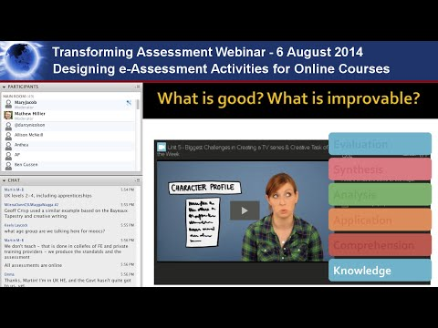 Designing e-Assessment Activities for Online Courses