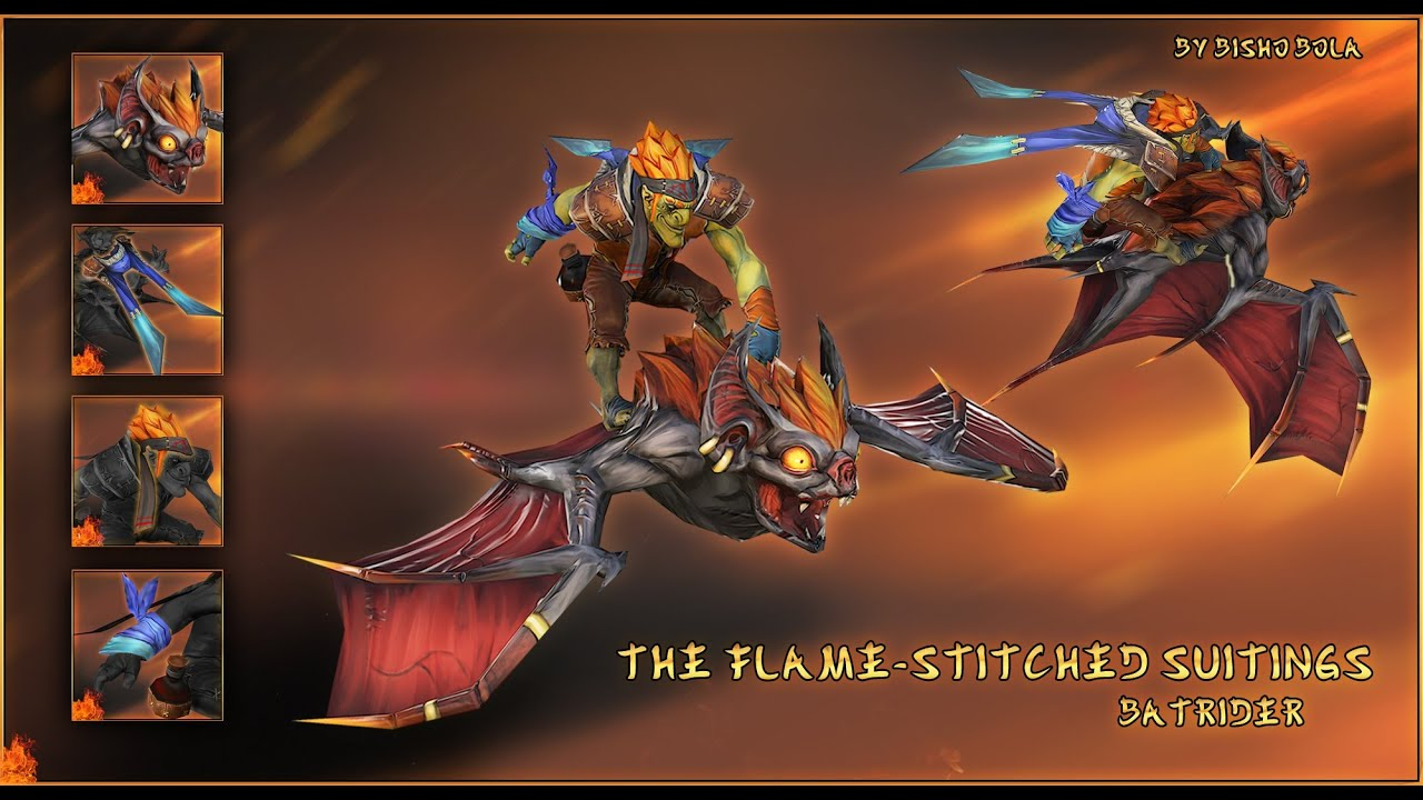 dota 2 batrider flamestitched suitings set preview youtube