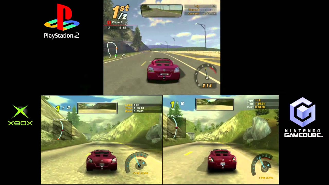 Nfs Hot Pursuit 2 Ps2 Vs Xbox Vs Cg Gameplay 6gcw Youtube