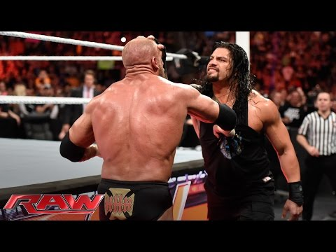Roman Reigns brutalizes Triple H: Raw, March 14, 2016