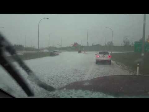 Hail Storm near Airdrie, AB