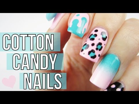 Mix & Match Cotton Candy Nail Art Tutorial