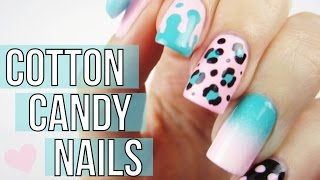 Mix & Match Cotton Candy Nail Art Tutorial
