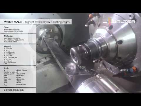 M2471 copy milling cutter - optimum cost efficiency thanks to maximum number of cutting edges