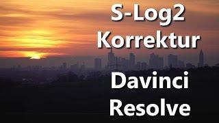 TUTORIAL - S-Log 2 Korrektur in Davinci Resolve | DEUTSCH
