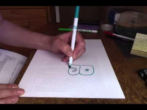 Drawing to Slow Down: Copying Maya Hieroglyphics 1