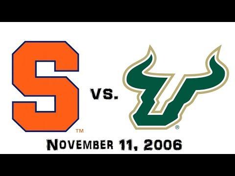 November 11, 2006 - Syracuse Orange vs. South Florida Bulls Full Football Game