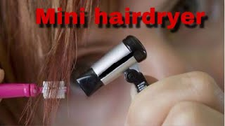 How To Make MINI HAIRDRYER  With DC Motor