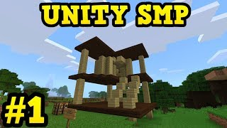 Unity - Minecraft Bedrock SMP #1 - CAT TOWER BUILD