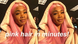 HOW I DYED MY HAIR PINK USING THE WATERCOLOR METHOD ft. finegirlhair