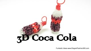 Rainbow Loom Coca Cola 3D Soda Drink charms - How to - Food Series