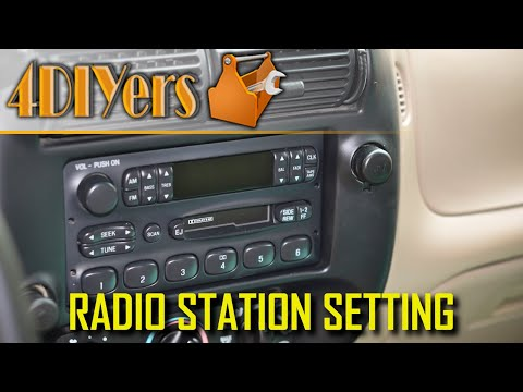 How to Set the Radio Presets on a Ford Ranger