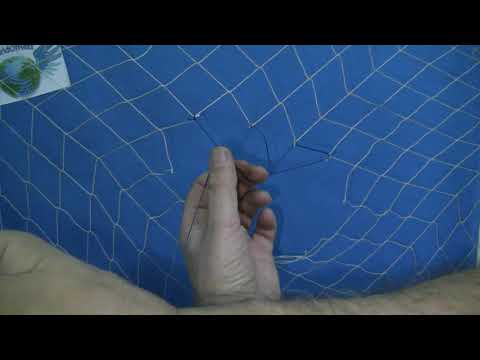 CAST NET REPAIR- FISHING NET - NET MAKING - HOW TO REPAIR BROKEN FISHING NETS
