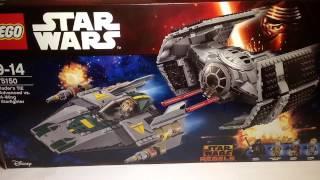 конструктор Lego Vaders TIE Advanced vs. A-Wing Starfighter 75150 обзор
