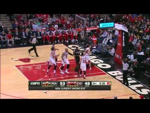 Chris Andersen 6 monster blocks vs Chicago Bulls full highlights 2014/03/09