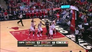 Chris Andersen 6 monster blocks vs Chicago Bulls full highlights 2014/03/09
