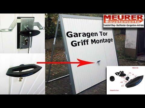 Relativ Universal Garagen Tor Griff und Zylinder Montage Hörmann, Novoferm MM76