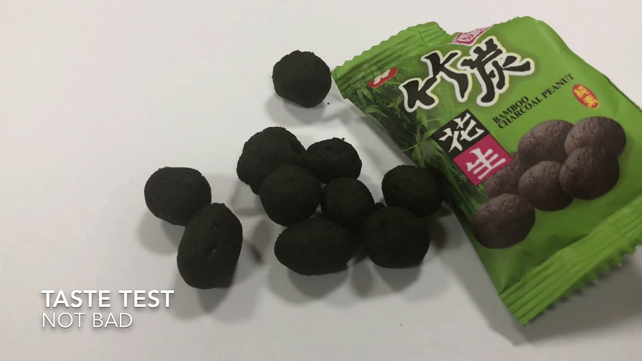Bamboo Charcoal Peanut from Taiwan 2017