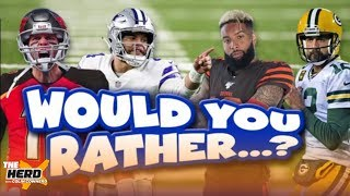 Colin Cowherd plays 'Would You Rather?' with scenarios from the upcoming NFL season | THE HERD