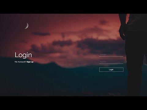 Transparent Login & Registration Form In HTML And CSS - Login Form Design