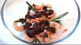Вкусные креветки под шоколадным соусом