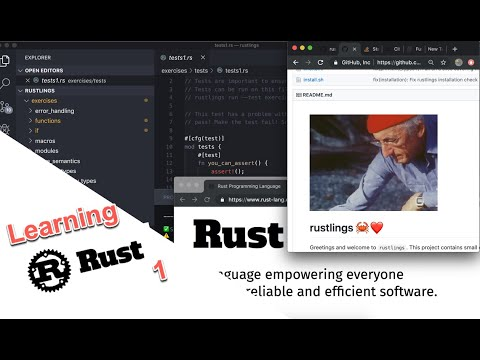 Introduction to the Rust programming language thumbnail
