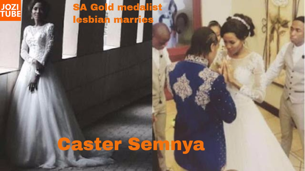 South African Gold medalist lesbian Caster Semenya got hitched  YouTube